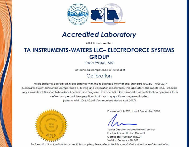 Iso Certifications Ta Instruments