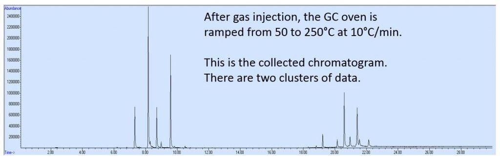 GC MS Graph